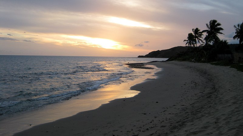 Sunset on the beach, Taunovo Bay, Fiji