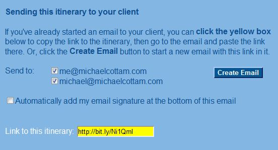 Create email button
