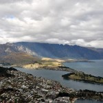 Looking down on Queenstown, New Zealand, from the Skyline gondola