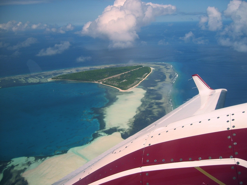 Alphonse Island from the air