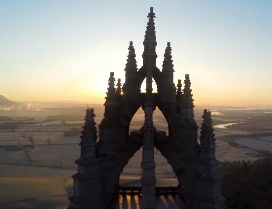 Scotland aerial footage