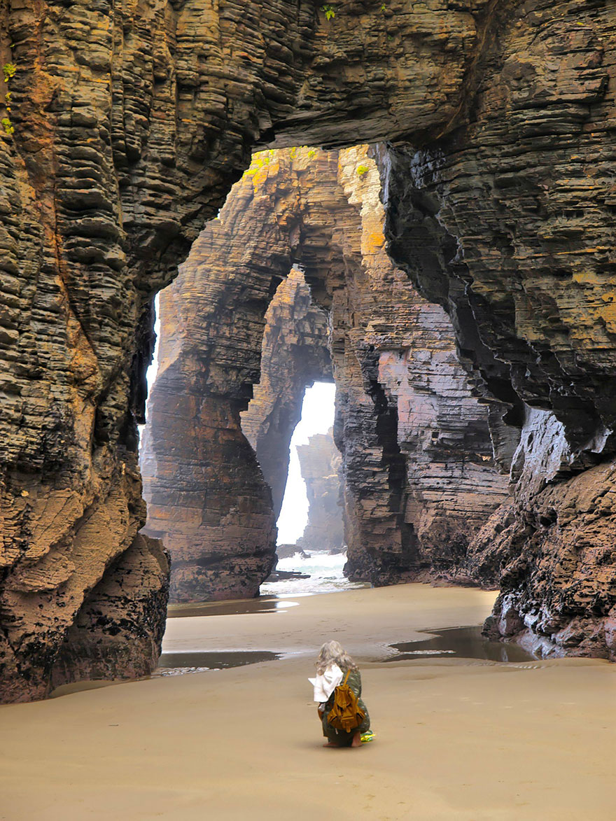 Beach of the Cathedrals, Ribadeo, Spain.