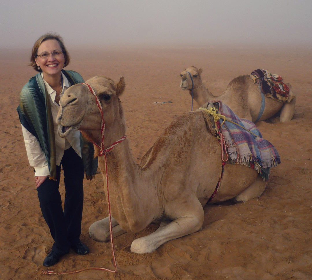 Marcia Miller and camels