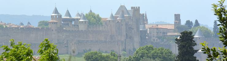Carcassonne and the walled city and castle