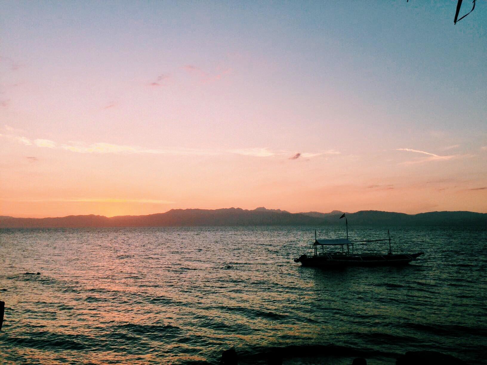 Sunset over Maolboal Beach