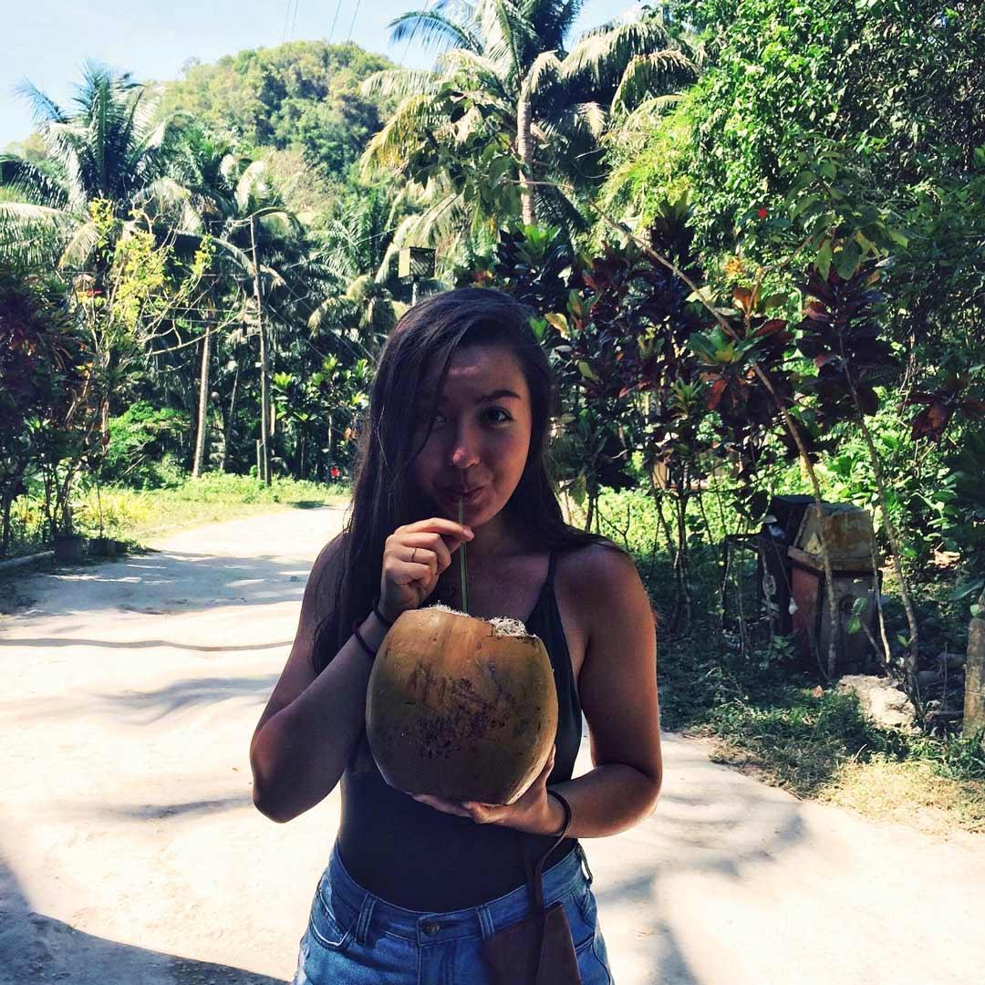 Coconuts near Kawasan Falls