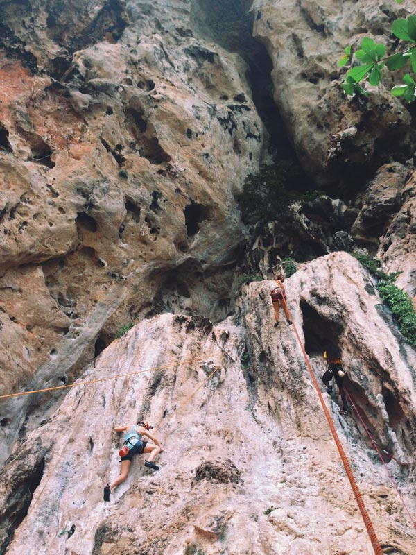 Even though I was a beginner rock climber, there were some great routes to climb with amazing stalactites and stalagmites to grab onto! Highly recommend for anyone looking for an adventure.
