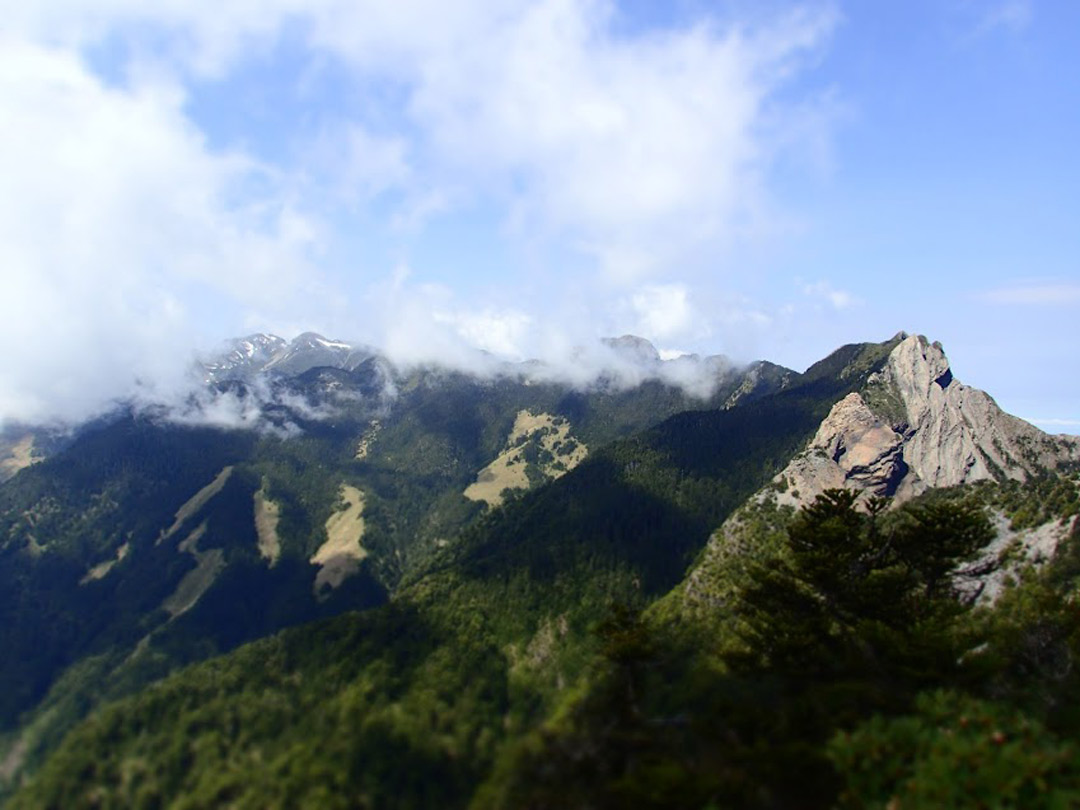 One of the views on the Holy Ridge Trail in Taiwan