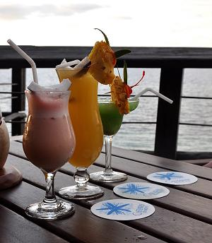 The fancy drinks at the bar at Castaway Resort: not included in the package, but very reasonably priced.