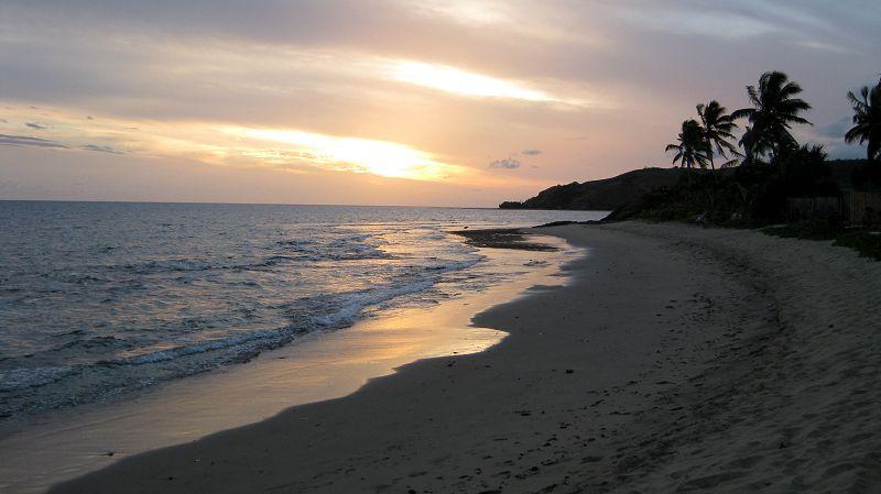 The Beach At Taunovo Bay Sunset