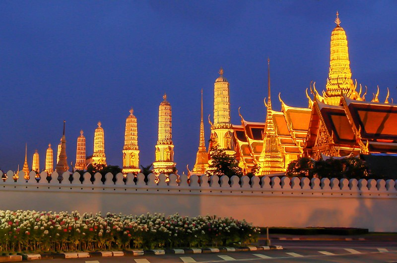 Wat Phra Kaew, the most sacred Buddhist temple in Thailand