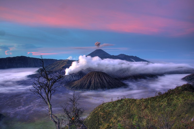 Gunung Batok and Gunung Bromo, about 100 miles west of Bali