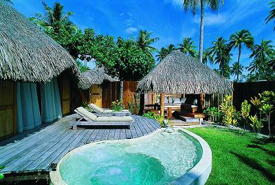 A garden pool suite at Bora Bora Pearl Resort