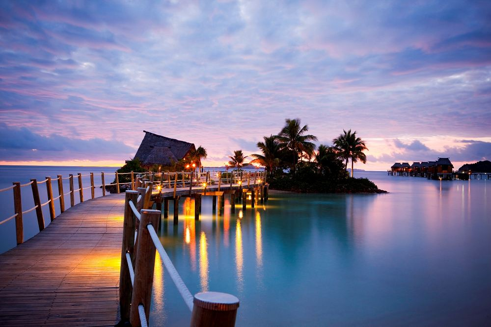 Liku Liku Resort with overwater bungalows in Fiji
