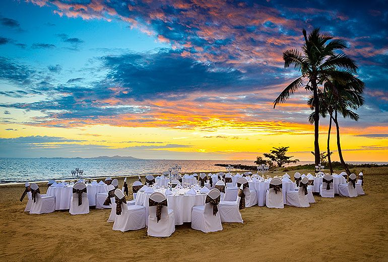 Wedding on the beach at Sheraton Fiji.  Photo courtesy Sheraton Fiji Resort.