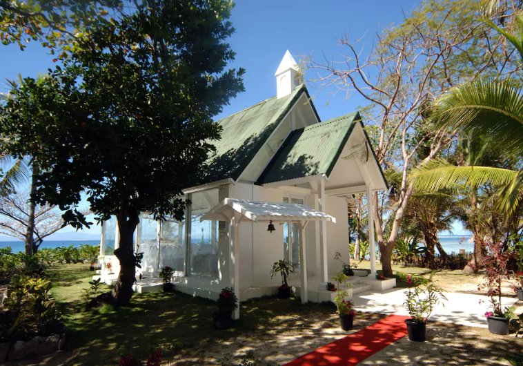 Wedding chapel at Treasure Island, in the Mamanucas, Fiji