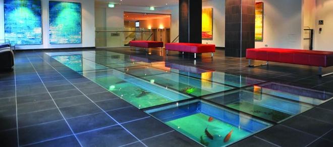 Spectacular Lobby with Unique Glass Floor Aquarium - The Sebel Surry ...