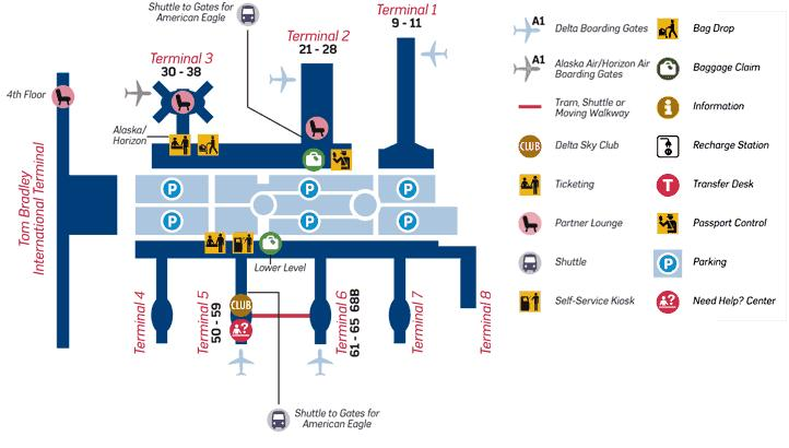 Lax Airport Map LAX Airport Map, From Photo Gallery For Delta Airlines, United  Lax Airport Map