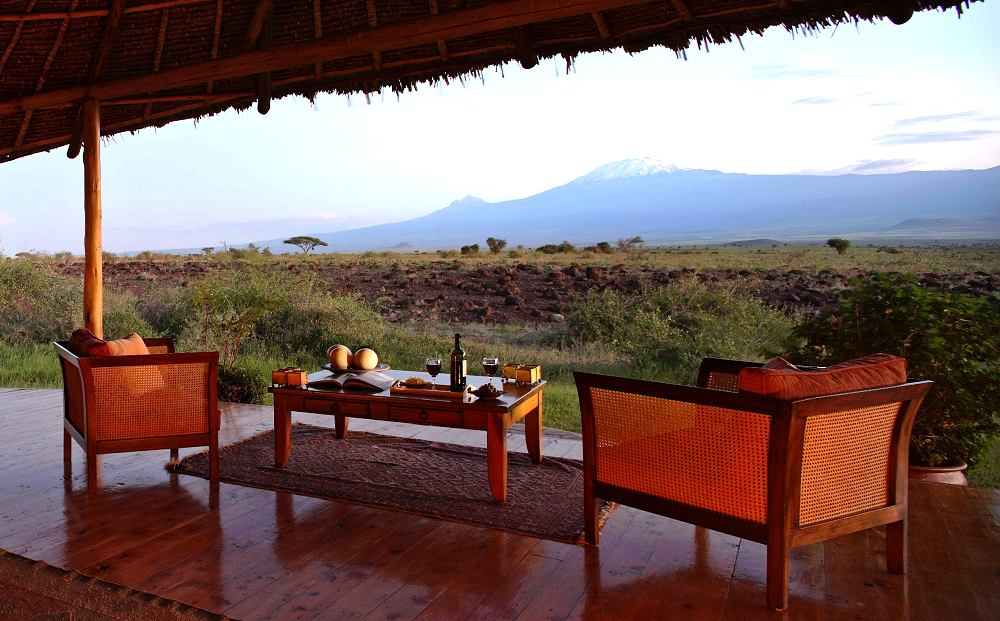 Views of Kilimanjaro - Tortilis Camp. Copyright Cheli & Peacock.