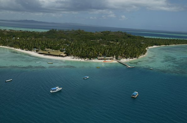 Aerial view - Plantation Island Resort. Copyright Plantation Island Resort.