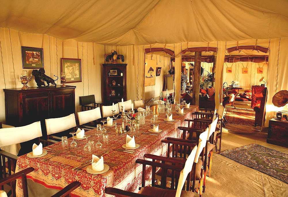 Wonderful Main Dining Room   Cottars 1920s Safari Camp.