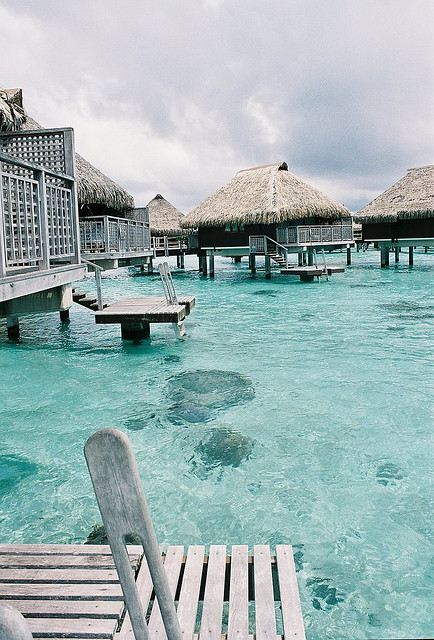 Over Water Bungalows Panoramic Over Water Bungalows From