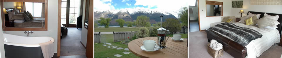 King Ensuite - Glenorchy Lake House. Copyright Glenorchy Lake House.