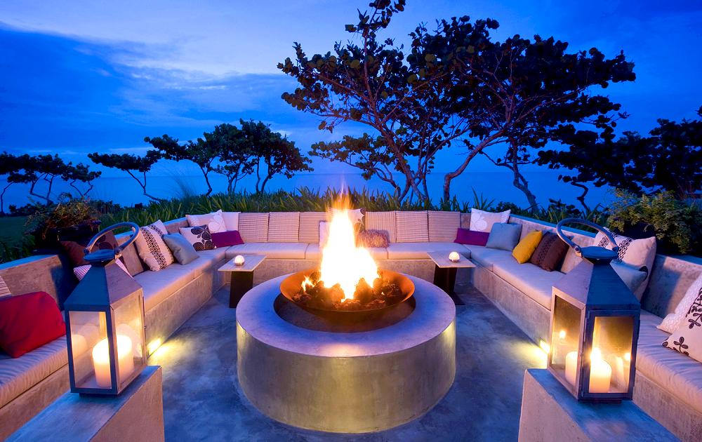 Fire Pit - W Retreat & Spa, Vieques Island.