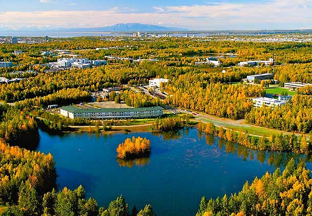 SpringHill Aerial View - SpringHill Suites Anchorage University Lake. Copyright <a href='http://www.flavinphotography.com/'>Frank Flavin</a>.