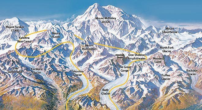 K2 Mountain Map