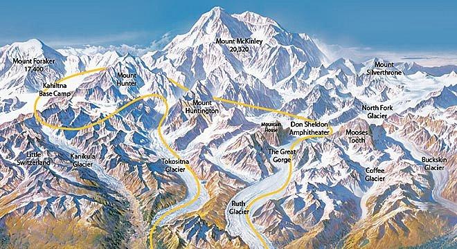 Karakoram '99: Map of the Karakoram Peaks