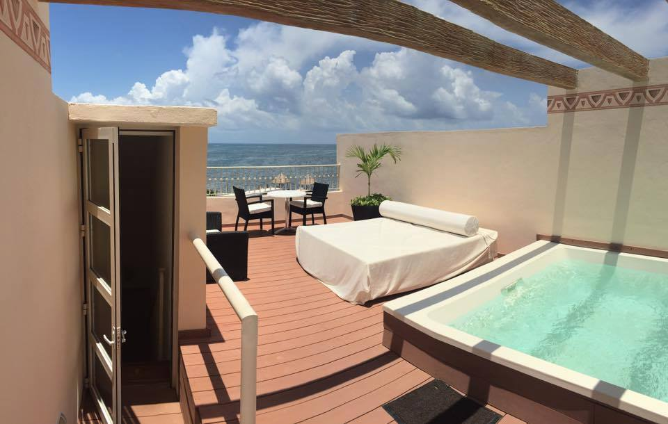 Two Story Rooftop Terrace Suite Oceanfront Excellence Riviera Cancun