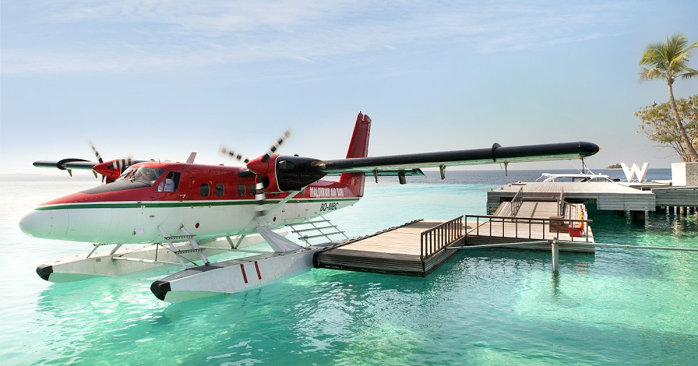Arrive by Seaplane - W Retreat and Spa.