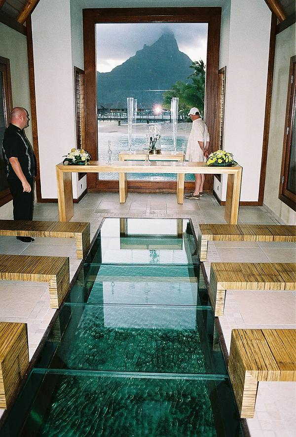 Inside The Overwater Wedding Chapel From Photo Gallery