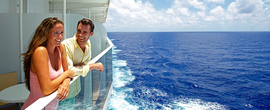 Superior oceanview stateroom with large balcony from for Balcony on cruise ship