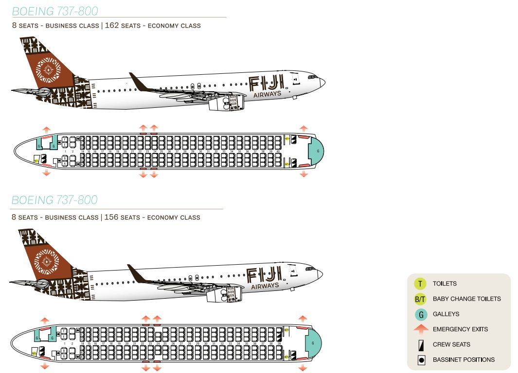 Boeing 737 800 Fleet From Photo Gallery For Fiji Airways