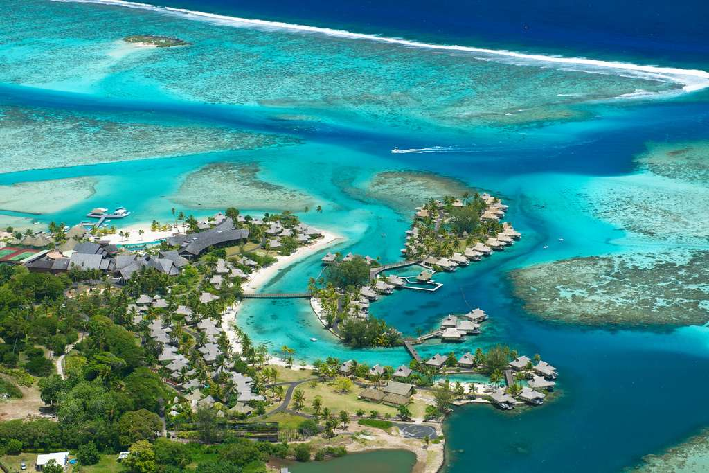 Aerial view - InterContinental Moorea Resort & Spa. Copyright InterContinental Hotels & Resorts French Polynesia.