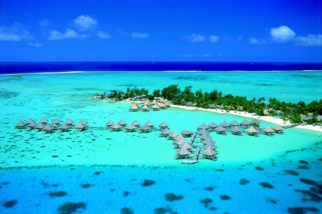 Aerial view - InterContinental Bora Bora Le Moana Resort. Copyright InterContinental Hotels & Resorts French Polynesia.