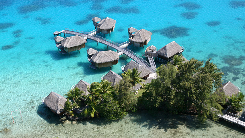 Aerial View of the Resort - Sofitel Bora Bora Marara Beach. Copyright Sofitel Luxury Hotels.