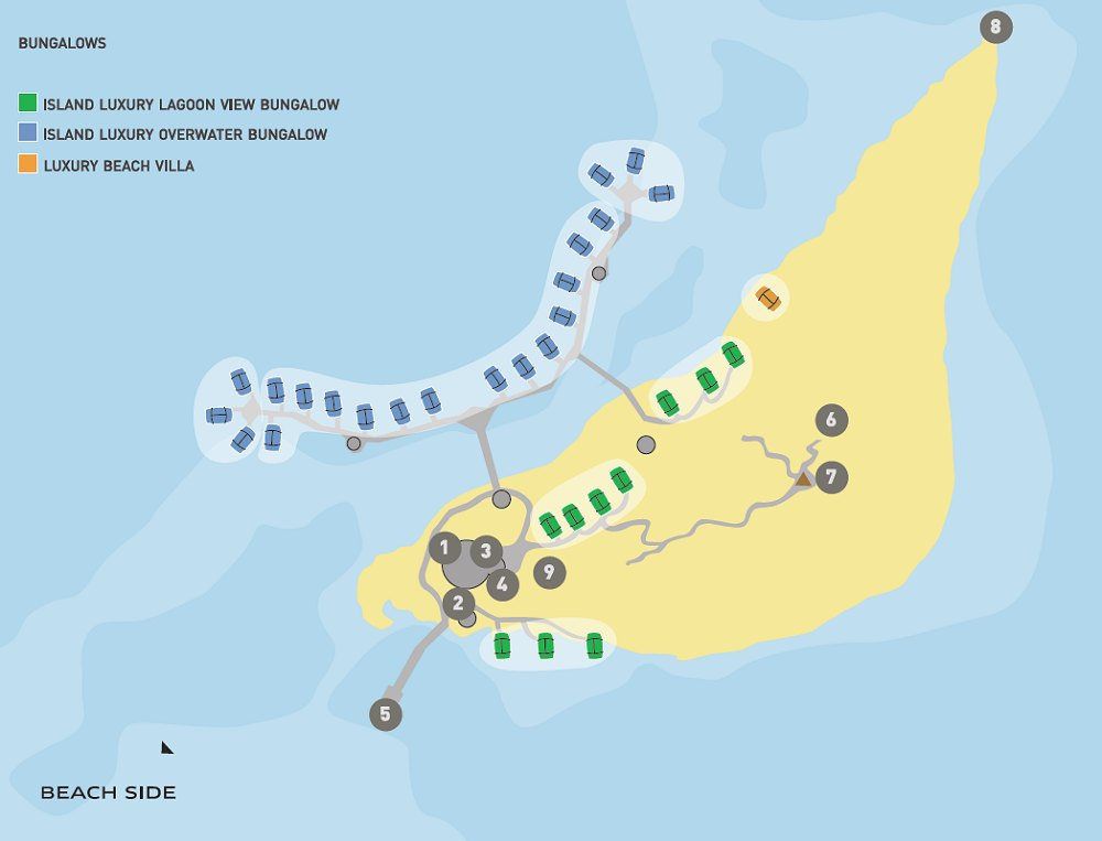 Resort layout - Motu, From Photo Gallery For Sofitel Bora Bora ...