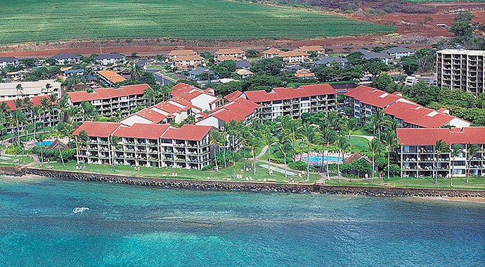 Aerial View of the Hotel - Aston at Papakea Resort. Copyright Aston Papakea.