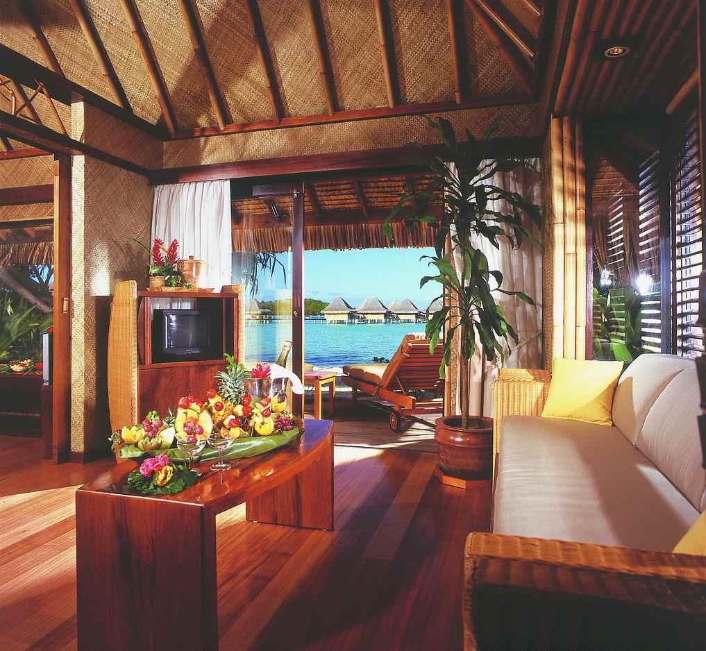 Tahiti Accommodation Over Water Bungalows: InterContinental Bora Bora Le Moana Resort, French