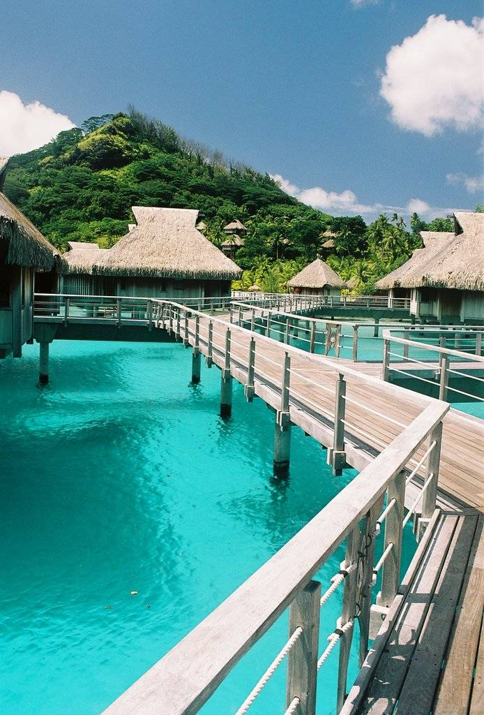 Overview - Hilton Bora Bora Nui Resort & Spa. Copyright Michael Cottam.