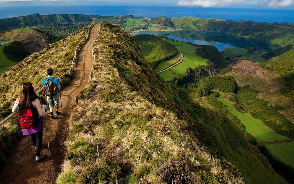 Sete Cidades Hiking Portugal Reviews Pictures Map Visual - Portugal hiking map