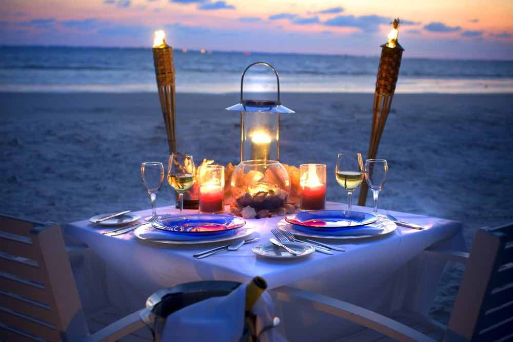 Private Beach Dinner From Photo Gallery For Pink Shell Beach Resort And Marina Fort Myers Beach