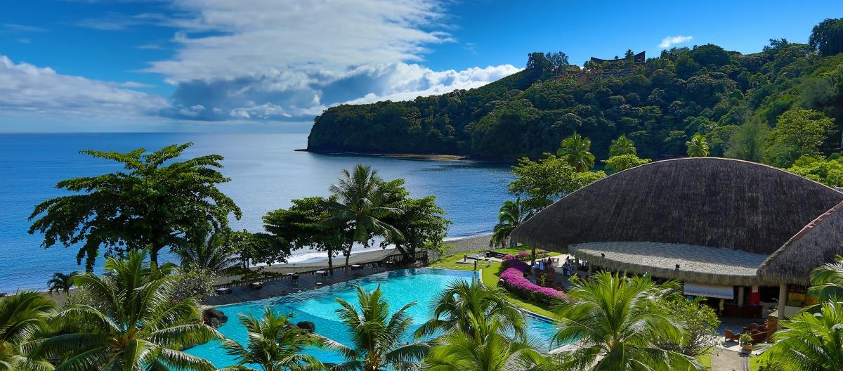 Overview - Tahiti Pearl Beach Resort. Copyright Tahiti Pearl Beach Resort.