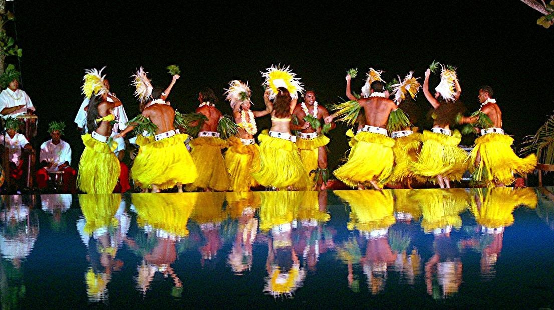 Polynesian Dancers - Tahiti Pearl Beach Resort.