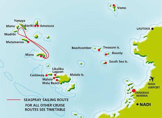 My Location To Adventure Island