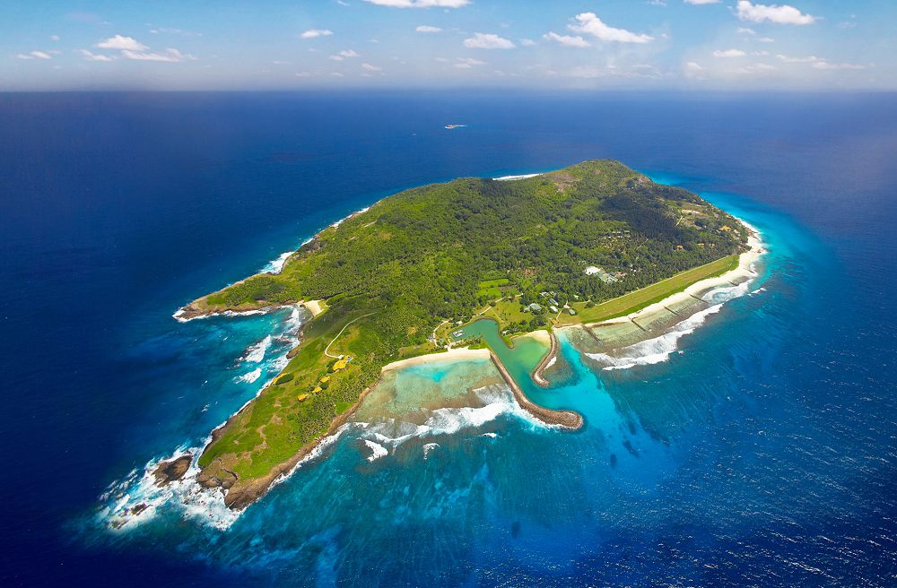 Aerial View of Fregate Island - Fregate Island Private. Copyright Fregate Island Private.