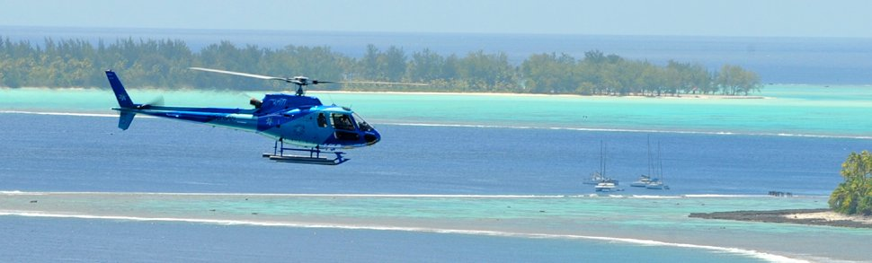 Available tours - Bora Bora Island Helicopter Tour. Copyright Tahiti Helicopters.